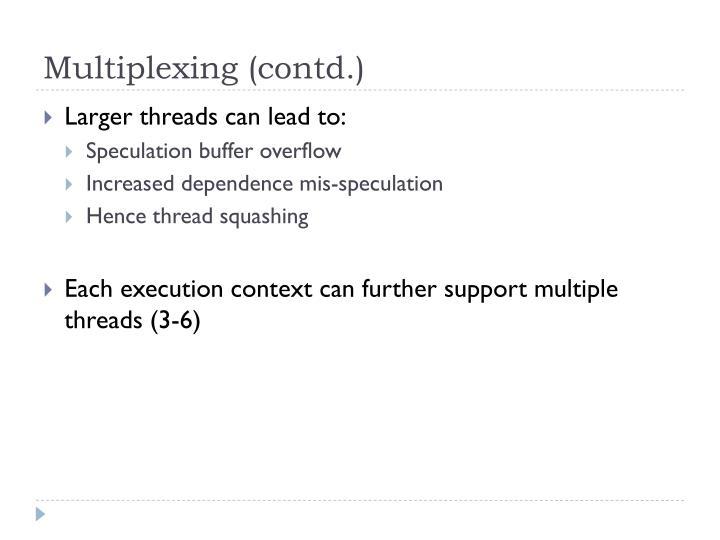 Multiplexing (contd.)