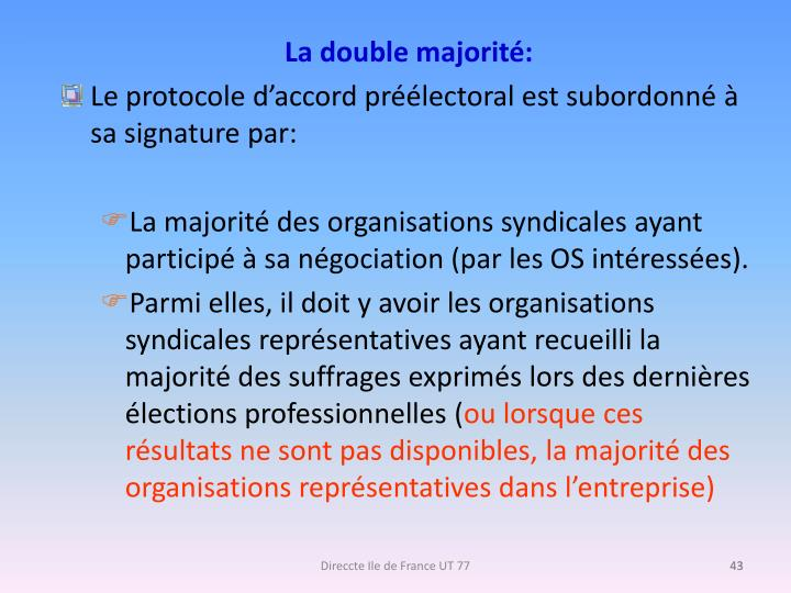 La double majorité: