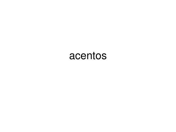 acentos n.