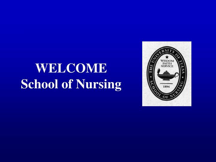 welcome school of nursing n.