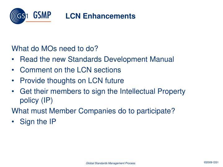 LCN Enhancements
