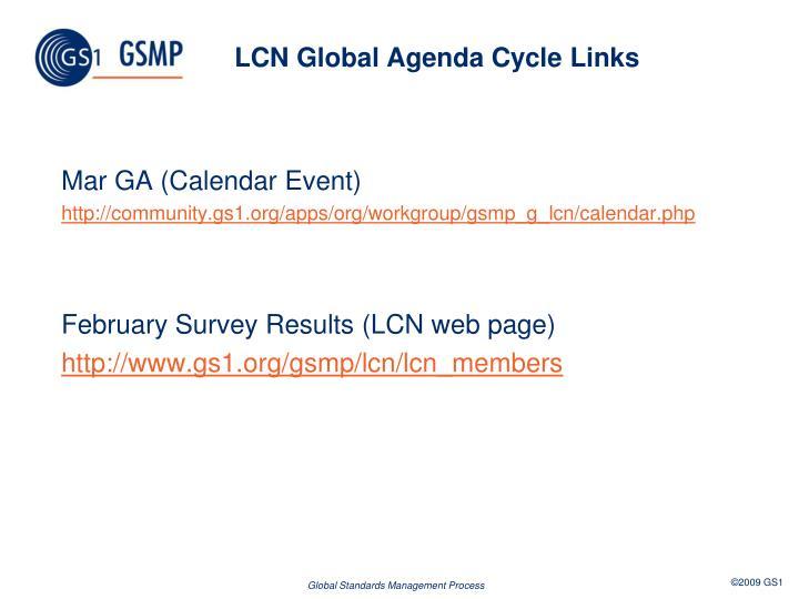 LCN Global Agenda Cycle Links