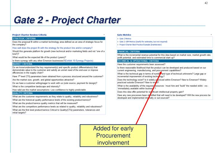 Gate 2 - Project Charter