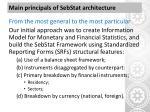 main principals of sebstat architecture