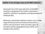 sebstat a new strategic view on the nbg s statistics