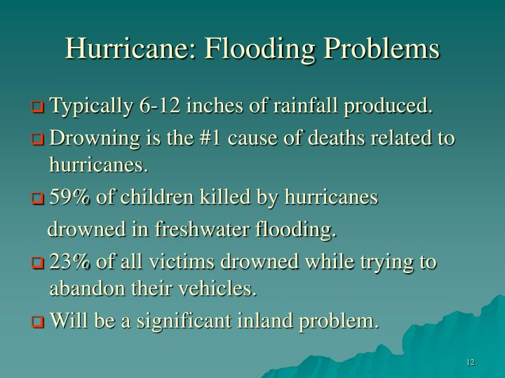Hurricane: Flooding Problems
