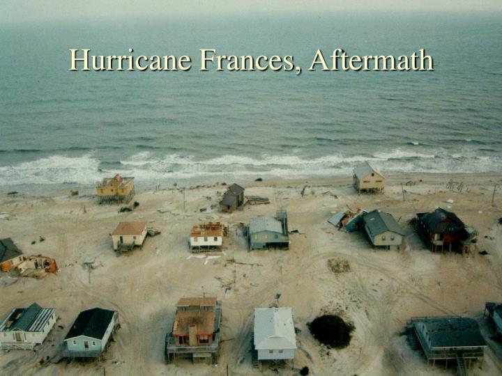 Hurricane Frances, Aftermath