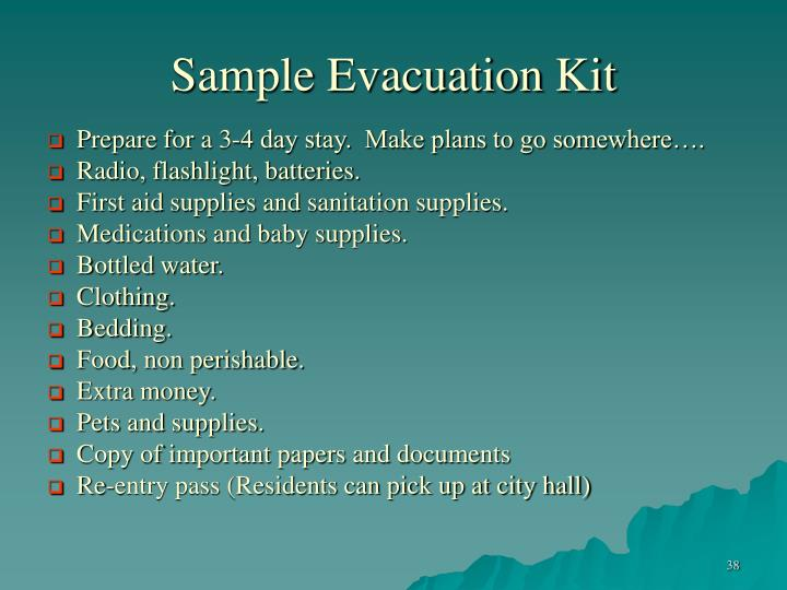 Sample Evacuation Kit