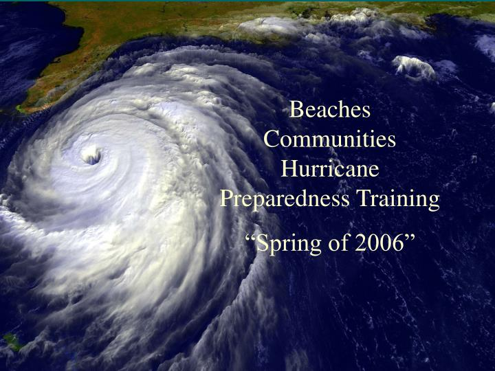 Beaches Communities Hurricane Preparedness Training