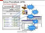active phonebook apb one simple interface