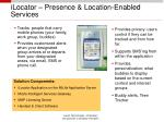 ilocator presence location enabled services