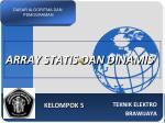 array statis dan dinamis