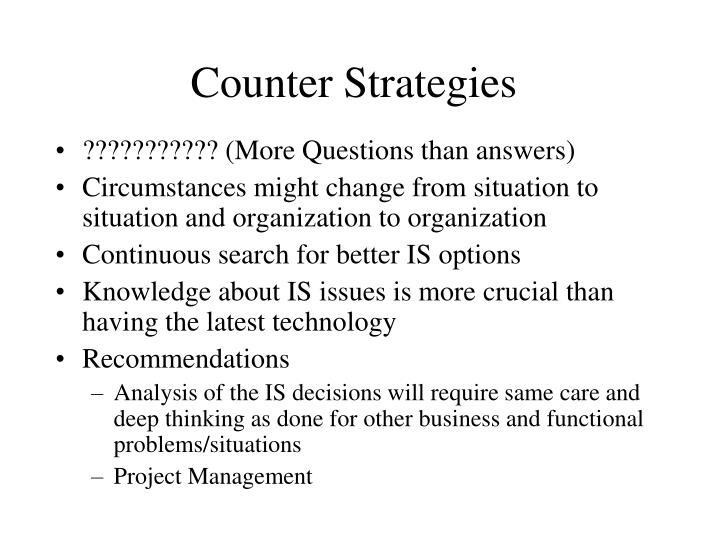 Counter Strategies