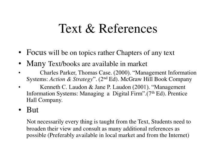Text & References