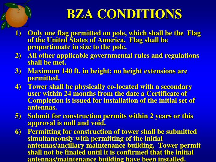 BZA CONDITIONS
