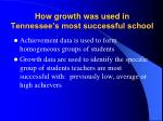 how growth was used in tennessee s most successful school