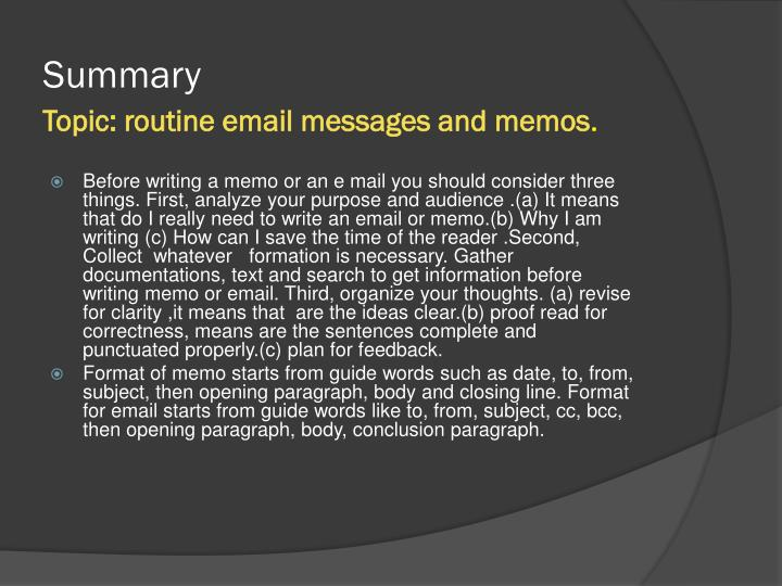 routine informative message Foundations of professional communicationwriting assignment 1 ndash routine informative message draft and revisionalso.