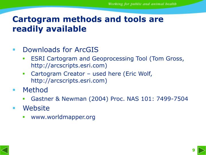 Cartogram methods and tools are readily available