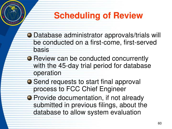 Scheduling of Review