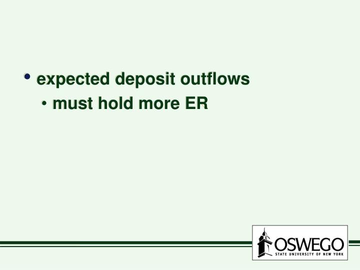expected deposit outflows