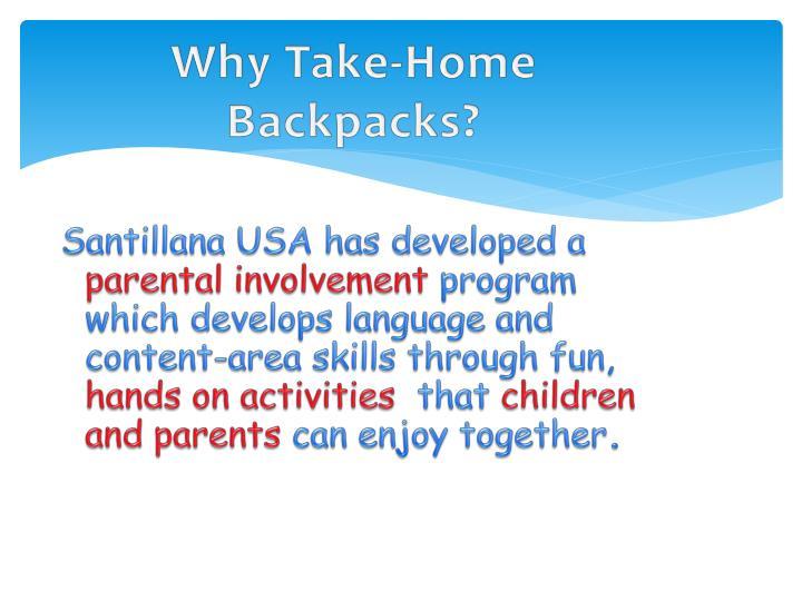 why take home backpacks n.