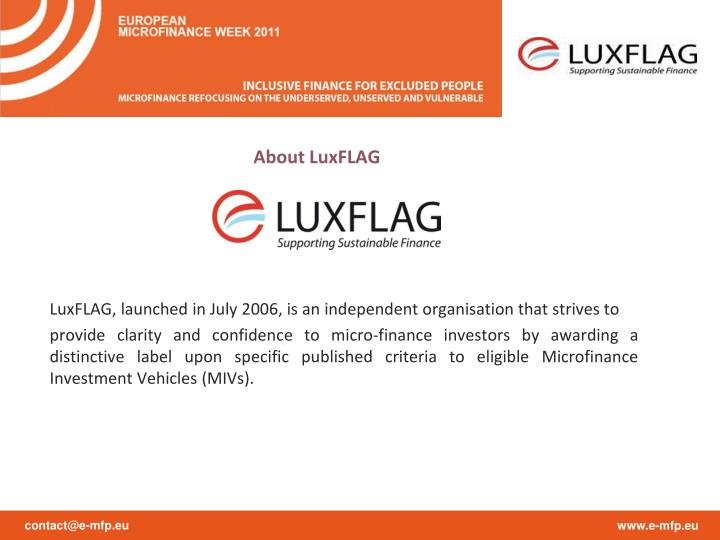 About LuxFLAG