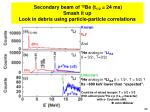 secondary beam of 12 be t 1 2 24 ms smash it up look in debris using particle particle correlations