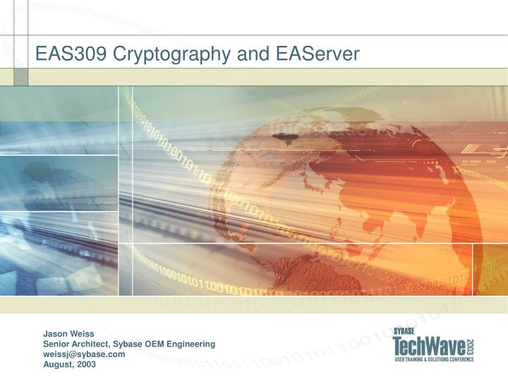 Eas309 cryptography and easerver