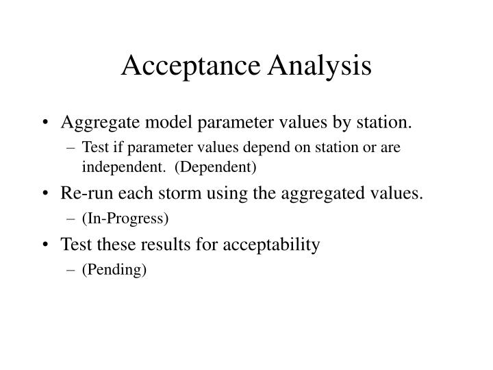 Acceptance Analysis
