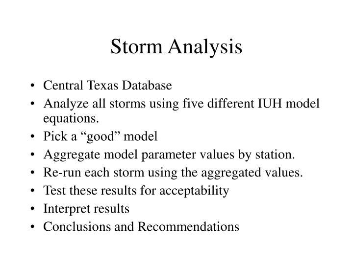 Storm analysis