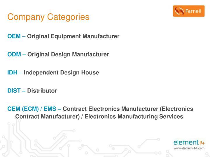 Company Categories