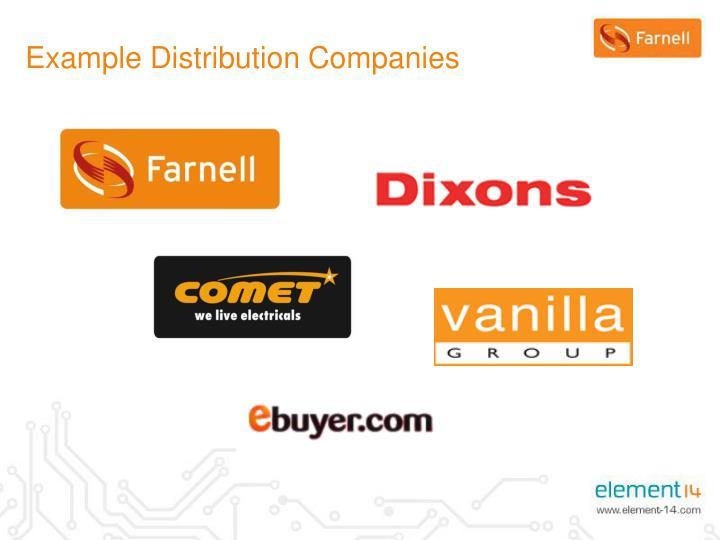 Example Distribution Companies
