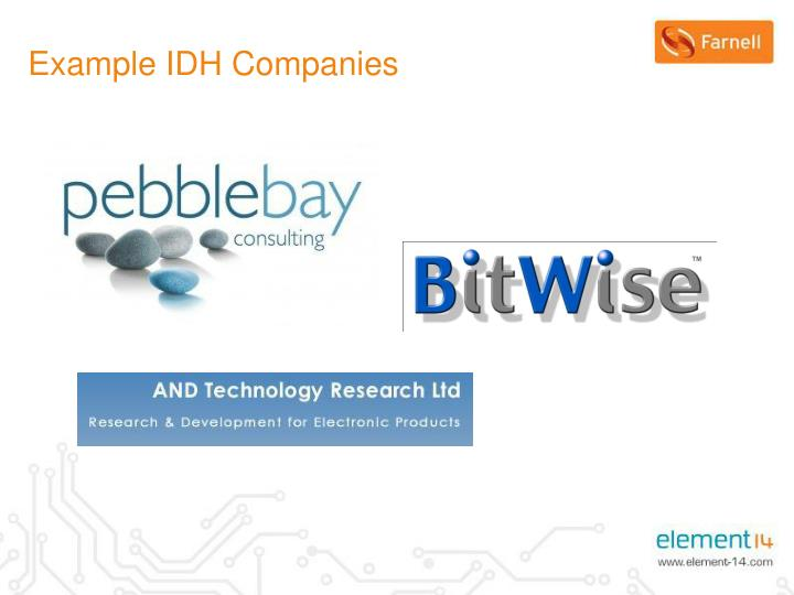 Example IDH Companies