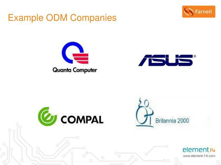 Example ODM Companies