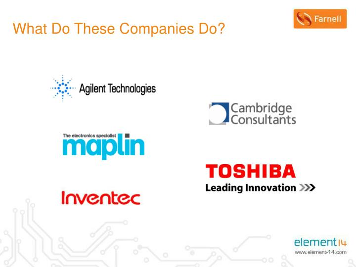 What Do These Companies Do?
