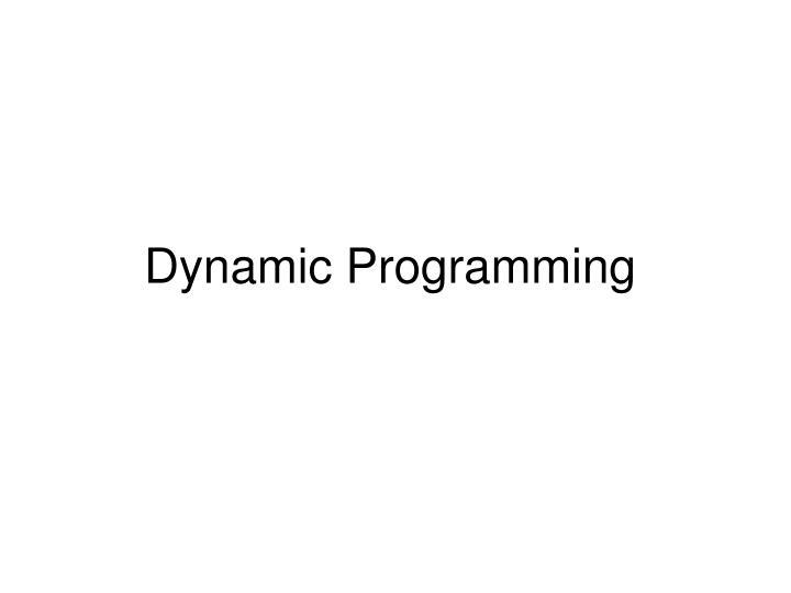 dynamic programming n.