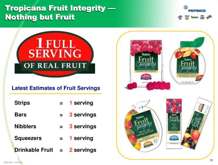 Tropicana Fruit Integrity —