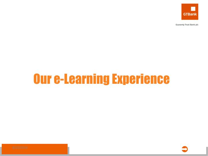 Our e-Learning Experience