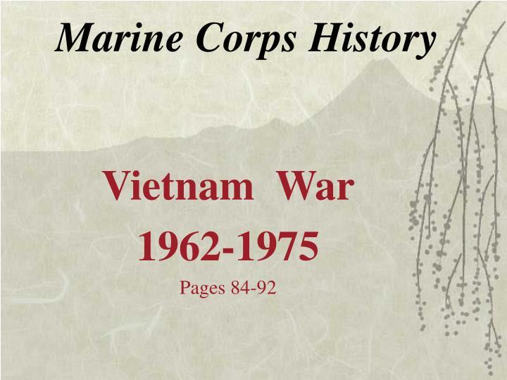 marine corps history n.
