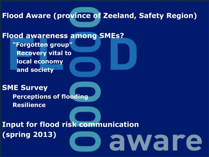 Flood Aware (province of Zeeland, Safety Region)