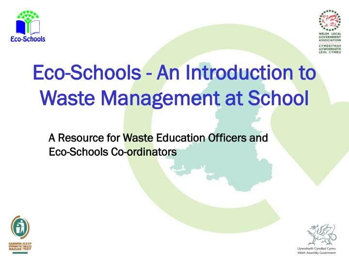 eco schools an introduction to waste management at school n.