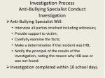 investigation process anti bullying specialist conduct investigation