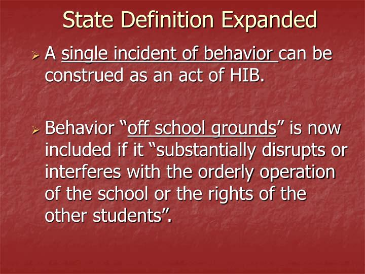 State Definition Expanded