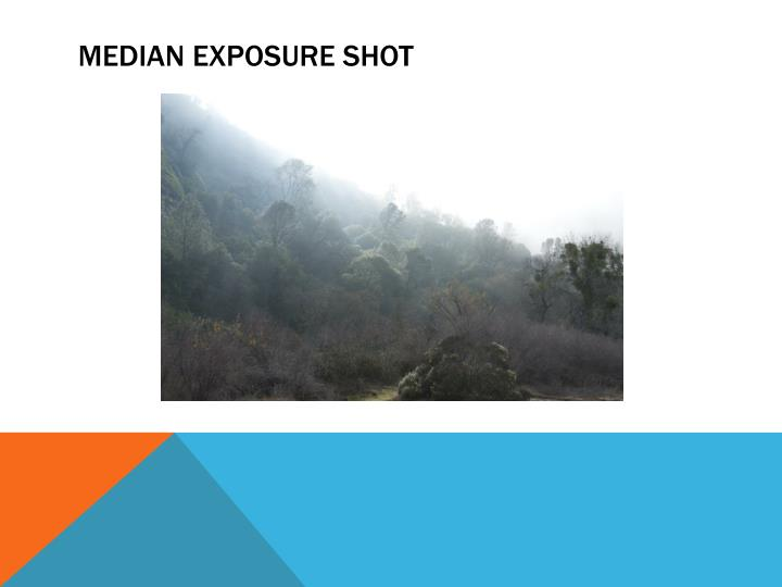 MEDIAN EXPOSURE SHOT
