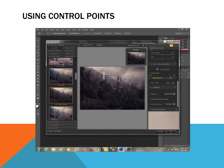 USING CONTROL POINTS