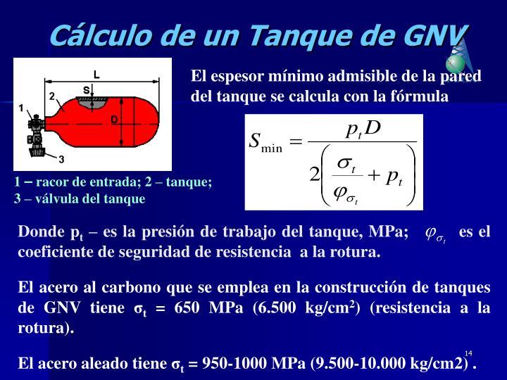 Cálculo de un Tanque de GNV