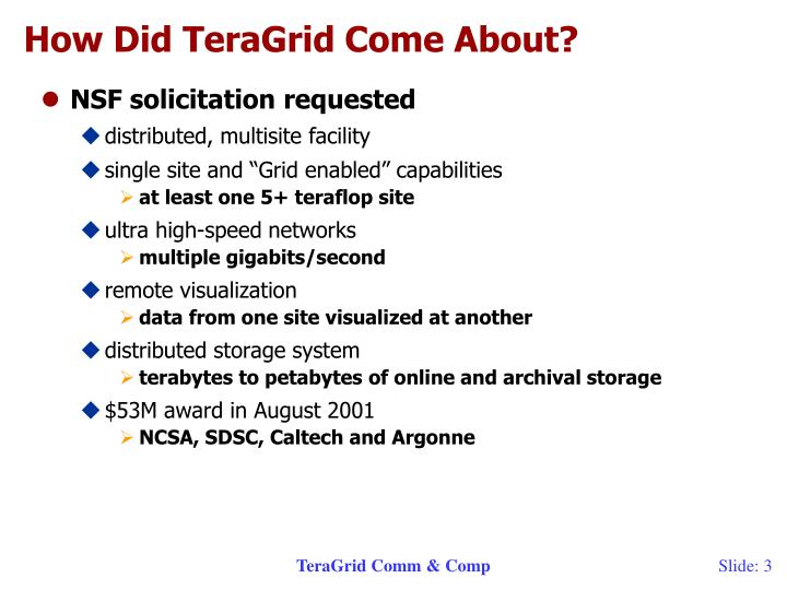 How did teragrid come about