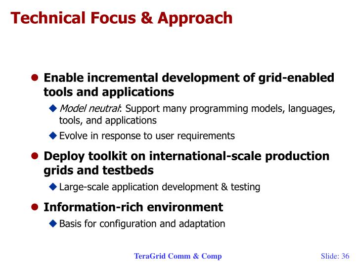 Technical Focus & Approach