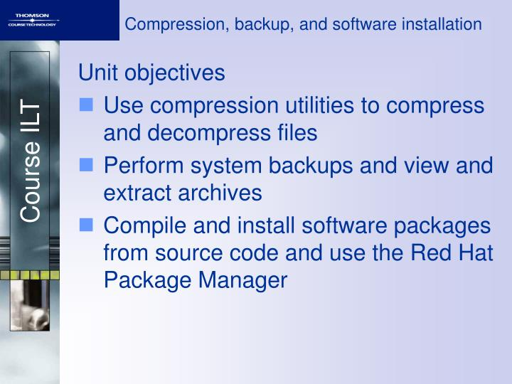 compression backup and software installation n.