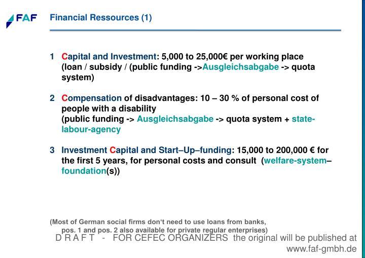 Financial Ressources (1)